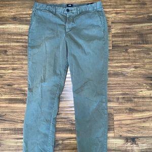 Olive Green Skinny Chino Pants